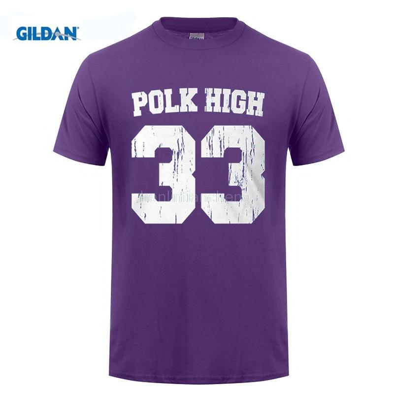 GILDAN Tee Shirt Mens New Fashion New Tee Shirts Printing Polk High, Al Bundy Footballer Jersey Men's T-shirt Design T-Shirt - intl