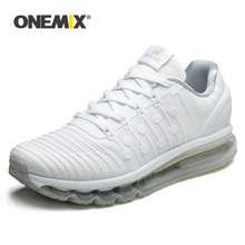 ONEMIX Air Cushion Running Shoes for Women Knitted Breathable Mesh Sports Shoes Jogging Sneakers Outdoor Woman Big Shoes 43 onemix running shoes for women sports shoes sneakers damping air 270 cushion breathable knit mesh vamp for outdoor walking shoes