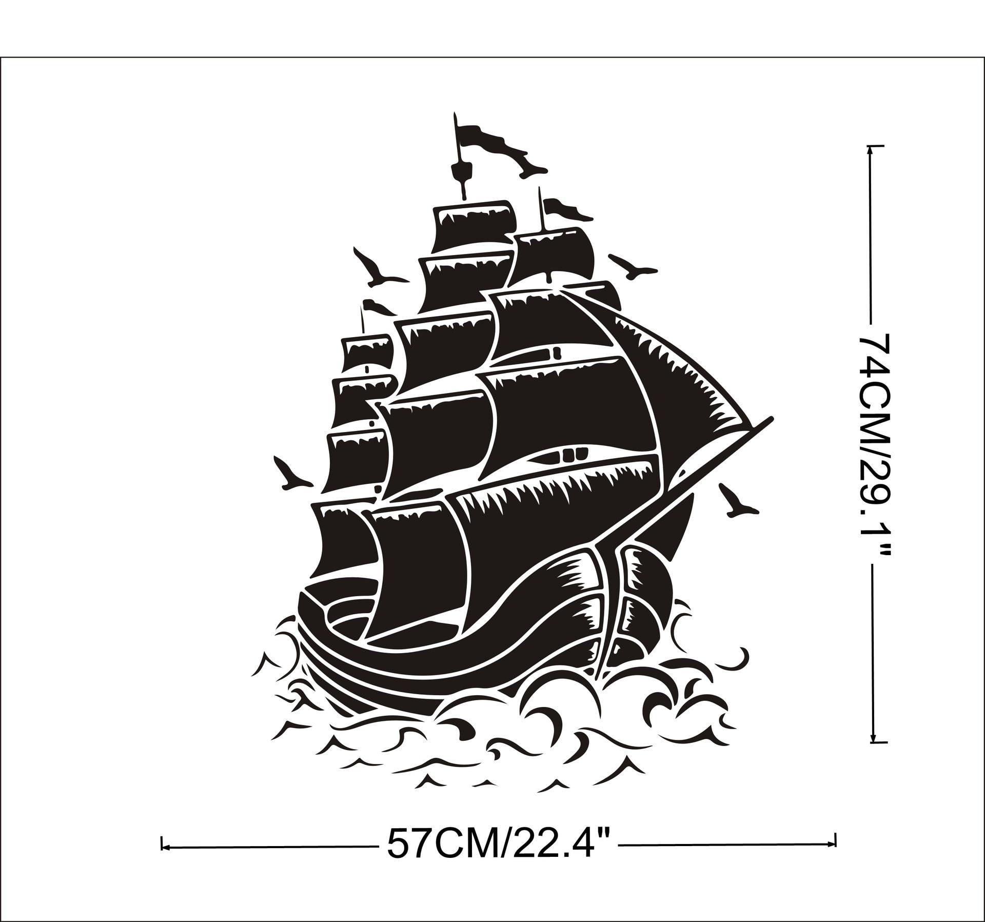 aliexpress koop verwijderbare mode interieur decal nautische