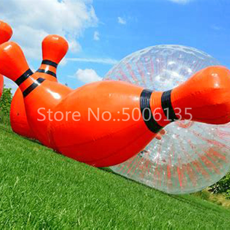 Free Shipping 6 feet/1.8meter Height a lot Inflatable Bowling Ball,Giant Bowling Ball Game,Human Zorb Bowling Game