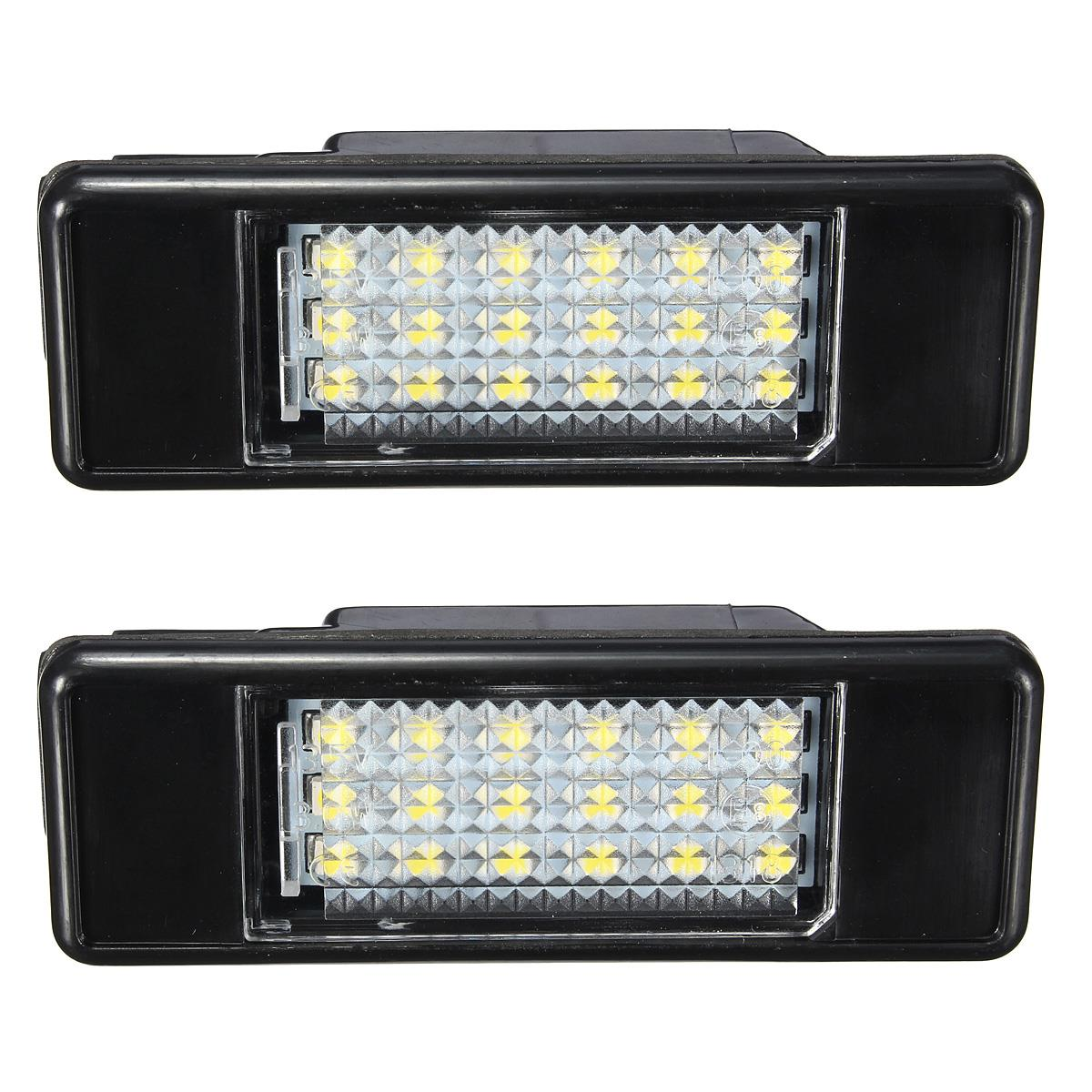 New 2 x LED SMD License Plate Light For Peugeot 106 207 307 308 406 407 508 White smaart v 7 new license