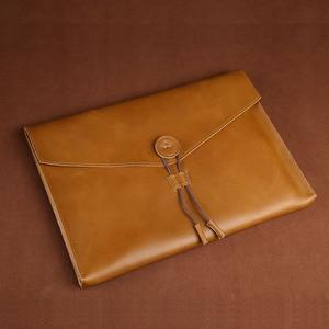 Image 2 - A4 革フォルダ自然本革のドキュメントバッグビジネス a4 紙袋ドキュメント事務学用品