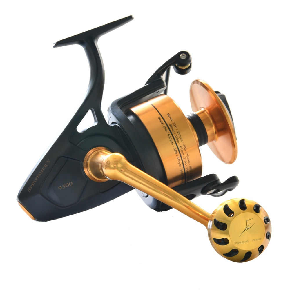 Gomexus Power Knob 47mm For Daiwa BG Penn Spinfisher Battle Penn Z Shimano Ultegra Reel Handle Drill Fitment