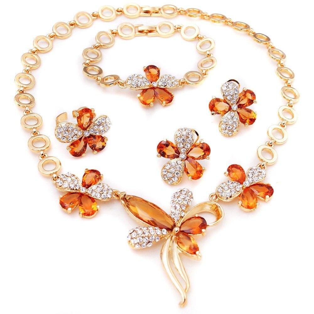 2015 jewellery indian set dubai fashion jewelry 14 carat gold ...