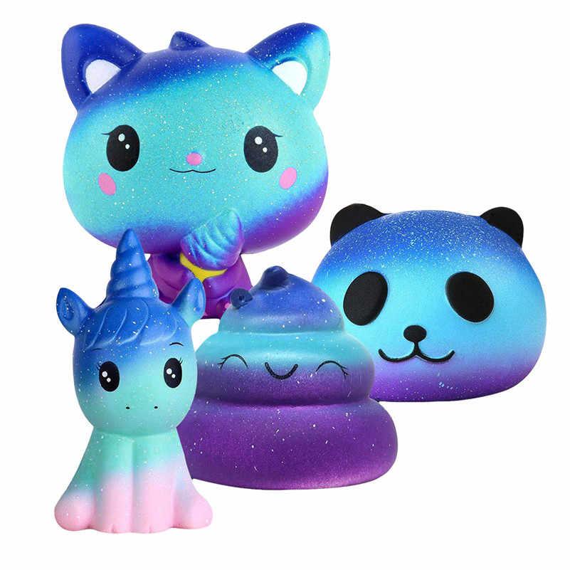 4 шт. Desire Роскошный милый мягкий пакет (единорога пончика + кот + панда + корма) подарок для маленьких детей F1