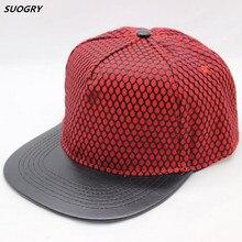 61b8a123c8c 2016 Men Solid Fitted Sun Bone Male Brim Straight Snapback Chapeau Hiphop  Net Cap Baseball Cap