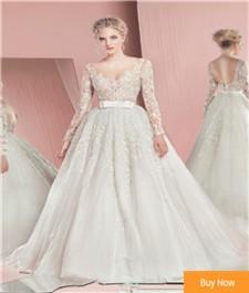 Elegant-Zuhair-Murad-Lace-Wedding-Dress-2016-Long-Sleeve-Lace-Appliques-Backless-Bride-Dress-Beach-Wedding