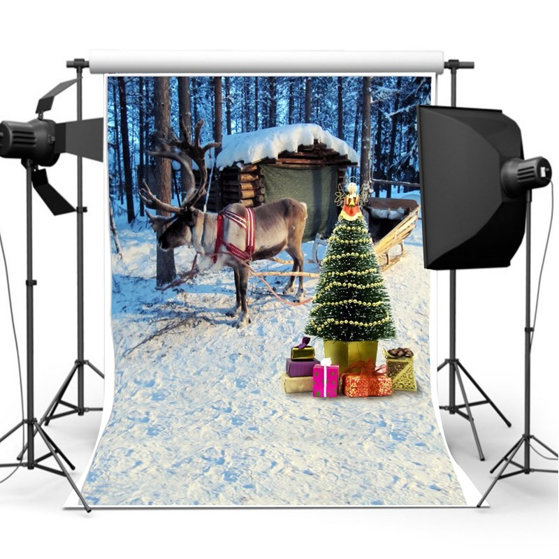 7x5ft Photography background Christmas Theme Snow photographic Backdrop for Studio Photo Prop cloth light weight 2.1 x 1.5m christmas photographic background snow snow in winter new year photo vinyl cloth year of the rooster