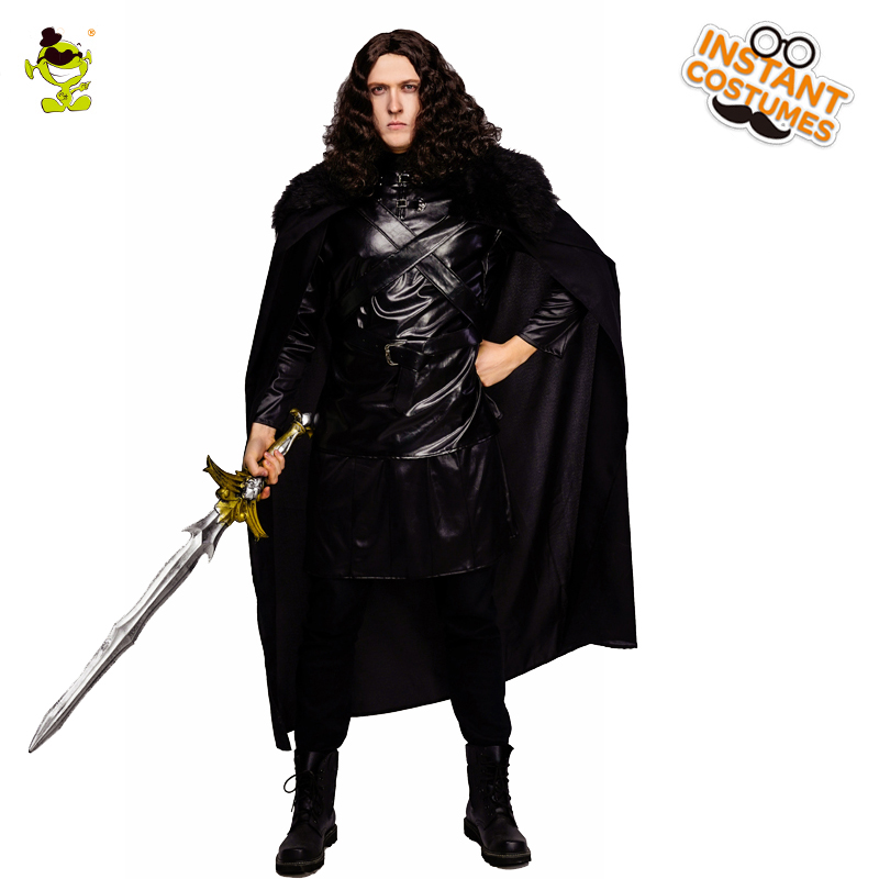 Adult Men's Deluxe Jon Snow Costume Night The King of North Clothes Cosplay Costume For Halloween Purim Carnival Party