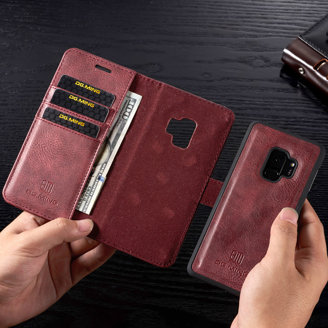 Magnetic Leather Wallet Case For Samsung A3 A5 J3 J5 2017 EU Flip Purse For A7 A6 A8 Plus 2018 Kickstand 360 Protective Cover