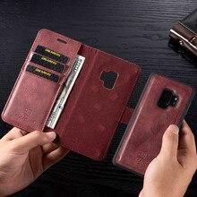 Magnetyczny portfel skórzany pokrowiec do Samsung A3 A5 J3 J5 2017 ue odwróć torebka do A7 A6 A8 Plus 2018 Kickstand 360 osłona ochronna