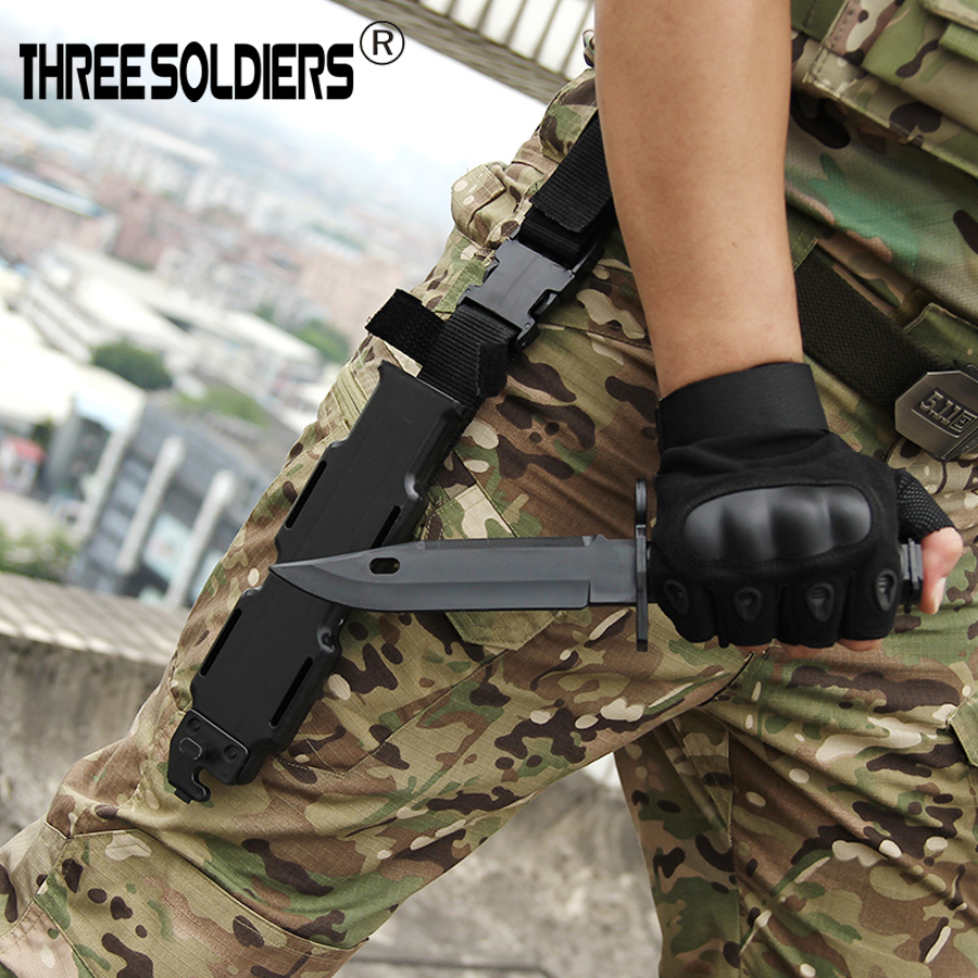 Soft Rubber Plastic <font><b>M9</b></font> Style <font><b>Knife</b></font> Blade Bayonet with Sheath Dummy Model Kit not the really <font><b>knife</b></font> image