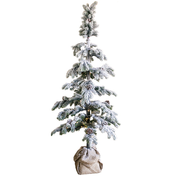 Large Christmas Tree Cedar Snow Scenery Bonsai Display Window Prop Cafe Restaurant Holiday Atmosphere Snowman Christmas Tree