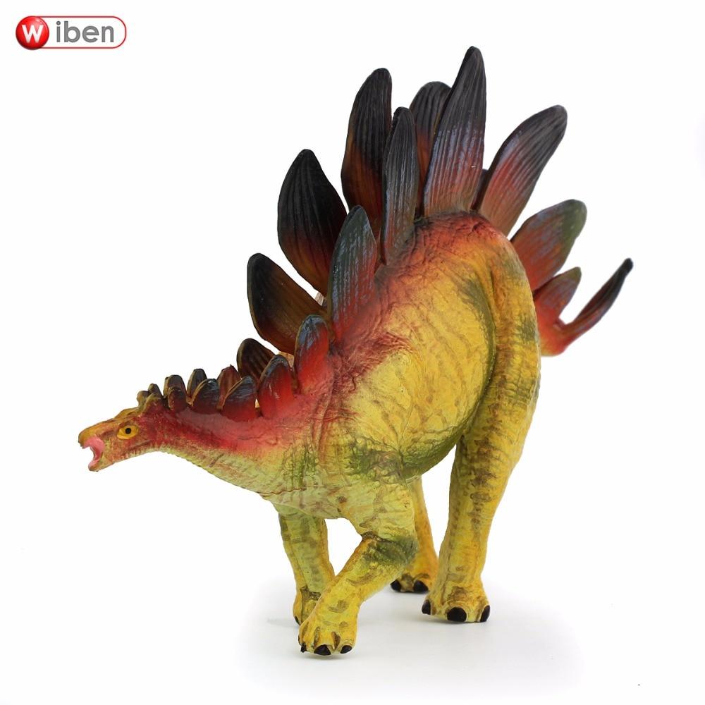 Wiben Jurassic Stegosaurus Action & Toy Figures Animal Model Collection Vivid Hand Painted Souvenir Plastic speelgoed Dinosaur Gift