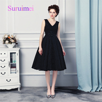 Free Shipping Custom Made High Quality Navy Blue Short Prom Dress 2017 Real Image Natural Graduation