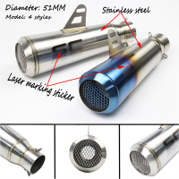 38 51MM Universal Motorbike Exhaust Pipes Bike Muffler With SC Laser Marking For Kawasaki ZX 6