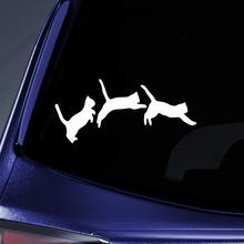 Bargain Max Decals - Jumping Cats Kittens Love Sticker Decal Notebook Car Laptop 6 (White)