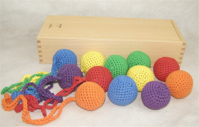 New Wooden Baby Frobel Toy Six-Color Ball Baby Educational Toy Baby Gifts