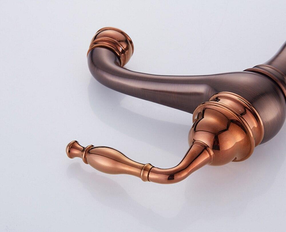 Antique Brass Bathroom Faucet Deck Mount Vanity Vessel Sinks Mixer Water Crane Bath Basin Faucets Tap in Basin Faucets from Home Improvement