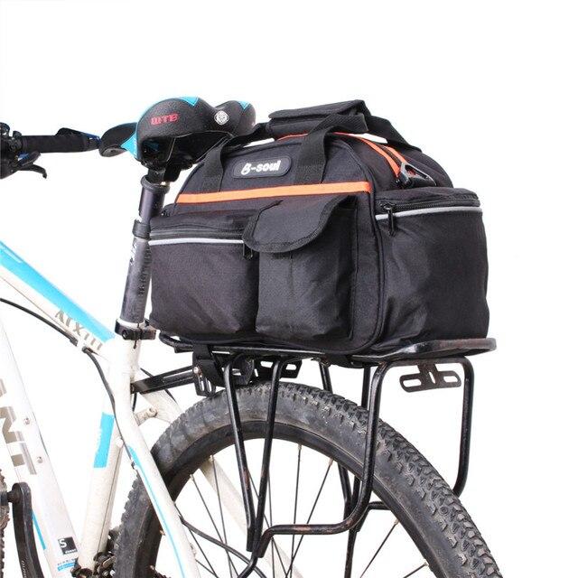 Hand Held Mountain Bike Bag Reflective Strip Rear Seat Shelves