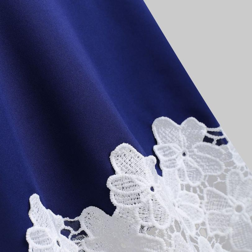 Blusa Camisa Mujer Blusas Lace Slash Moda De Tops Neck Applique Floral Y rojo 2018 Mujeres Malla Azul Hombro Abierto Camis Womens 4wq67awIx