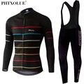 Phtxolue, осенне-зимняя теплая флисовая велосипедная одежда, длинные комплекты, одежда для велосипеда, весна-лето, велосипедные майки, комплект...