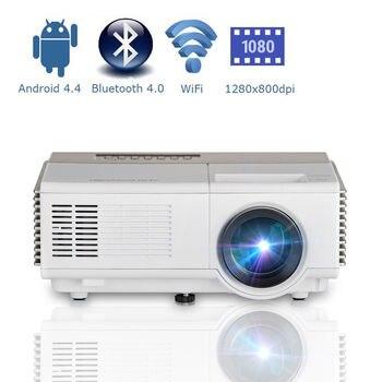 CAIWEI inteligente portátil Mini Proyector LED Android Wifi de cine en casa Video Proyector móvil Proyector HD Bluetooth sincronización inalámbrica