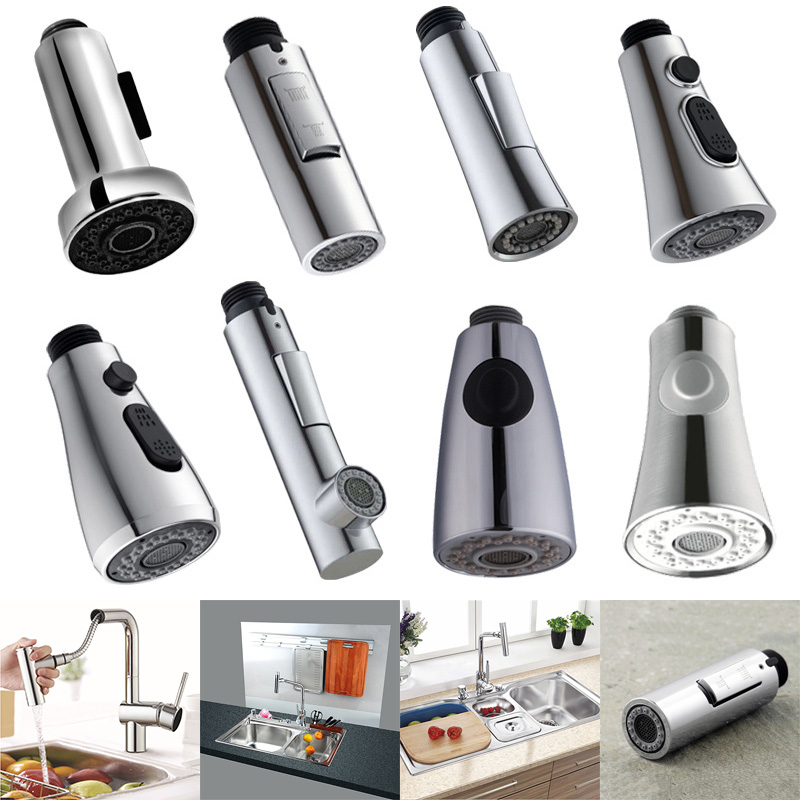 Kitchen Bathroom Tap Faucet Pull Out Shower Head Water Spray Replacement Head Sprinkler QJS Shop