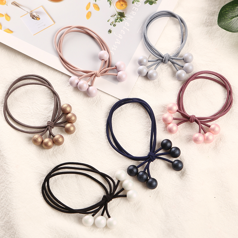 1PCS Multicolor Pearls Hair Holders Rubber Bands Elastic Hair Bands Girl Women Ponytail Tie Gum Hair Accessories Headwear