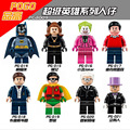 8 UNIDS PG8009 Super Heroes Batman Joker Robin bloques de construcción de juguete Pingüino Compatible con Lepin
