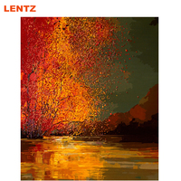 Landscape Sunset DIY Painting By Numbers Handpainted Oil Painting Picture By Number Home Wall Decoration Artwork