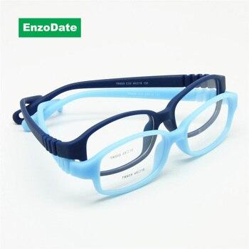 الأطفال النظارات البصرية الإطار مع حزام حجم 49 ، لا المسمار مرنة الفتيات الفتيان نظارات ، قطعة واحدة الاطفال نظارات مع الحبل