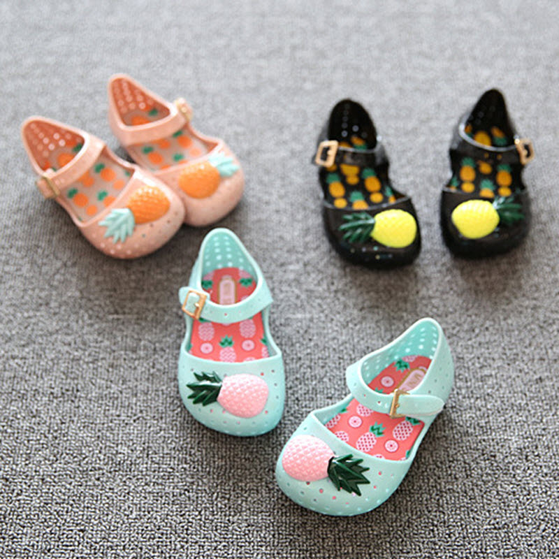 Mini Melissa Furadinha VII BB Shoe Toddler Pineapple Fruit Jelly Hole Shoes Mini Girls Summer Sandals