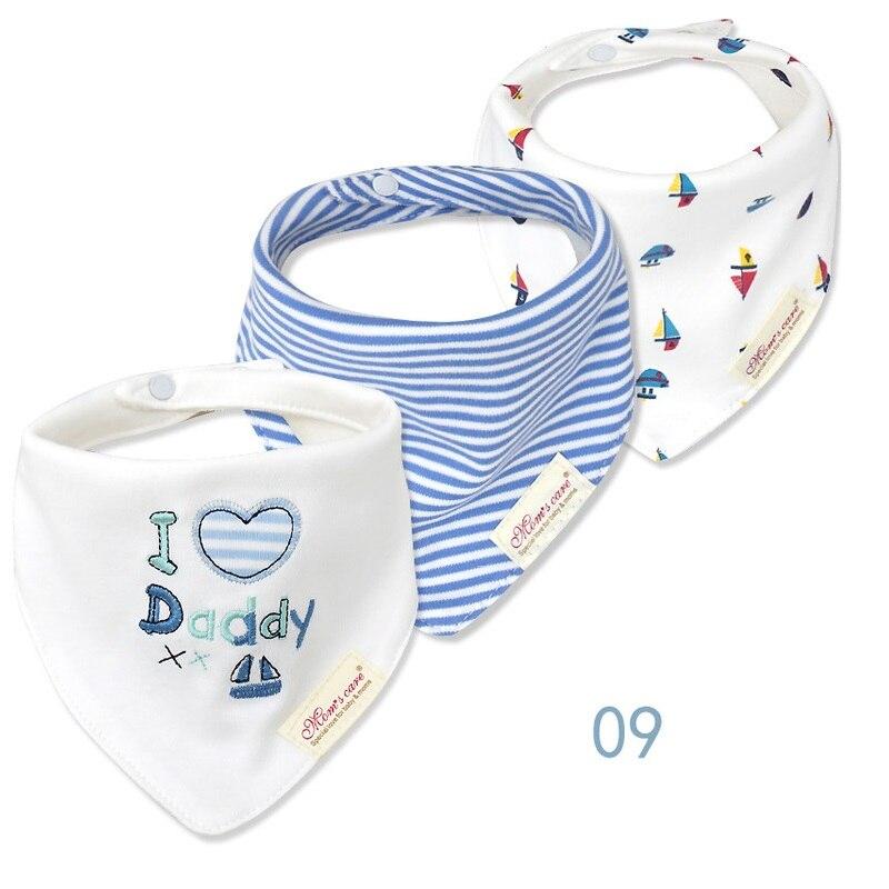 3pcs / lot Baby Bibs Bandana Lot 100% Мақта Жоғары - Балаларға арналған киім - фото 3