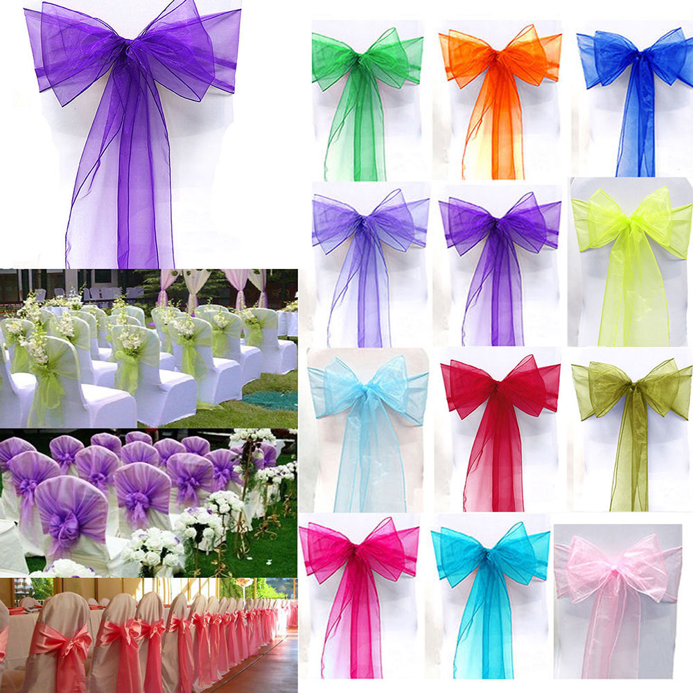 Wedding Reception Chair Covers And Sashes Elderly Recliner Lift Chairs 1pc Organza Cover Sash Bow Party Banquet Decoration In From Home Garden On Aliexpress Com Alibaba