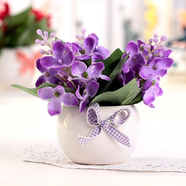 Flores Kunstliche Blumen Lila Kunstliche Seidenblumen Hochzeit