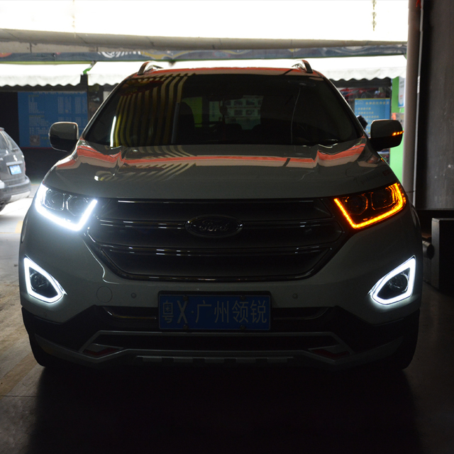 High Quality Car Styling Case For Ford Edge Headlights Led Headlight Drl Lens Double Beam Hid Xenon Car Accessories