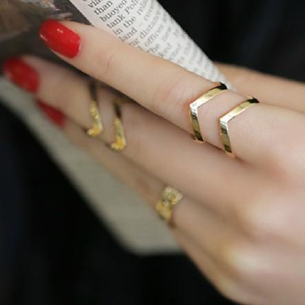 HTB1xSwXHpXXXXXpXpXXq6xXFXXXj 3-Pieces Dazzling Gold Adjustable Cuff Finger Ring Gift Set For Women