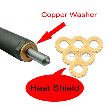 Erikc 10 sztuk 1 5mm osłona termiczna F00vc17503 wtryskiwacz oleju napędowego 2mm miedziana podkładka F00vc17504 Auto wtrysku 2 5mm pierścień F00vc17505 tanie i dobre opinie ERIKC DIESEL as the real product high speed steel 5 piece bag Injector Adjustment Shims ERIKC or Neutral Packing Copper ring for Common Rail Injector