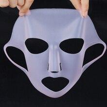 Máscara facial de silicone para o rosto, máscara anti off para o rosto, evaporização e reutilizável, fixa a essência ferramenta de cuidados com a pele,