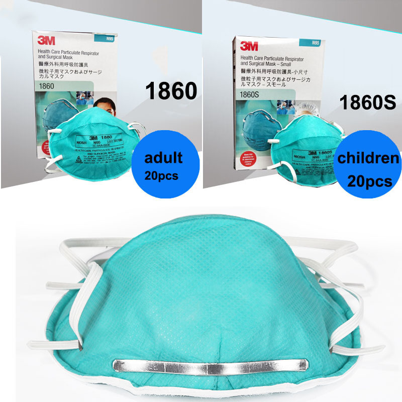 Children Dust 1860 Masks Respirator 3m Care N95 Anti-virus Adult Safety Dustproof Mask Particulate Health Breathing 1860s For
