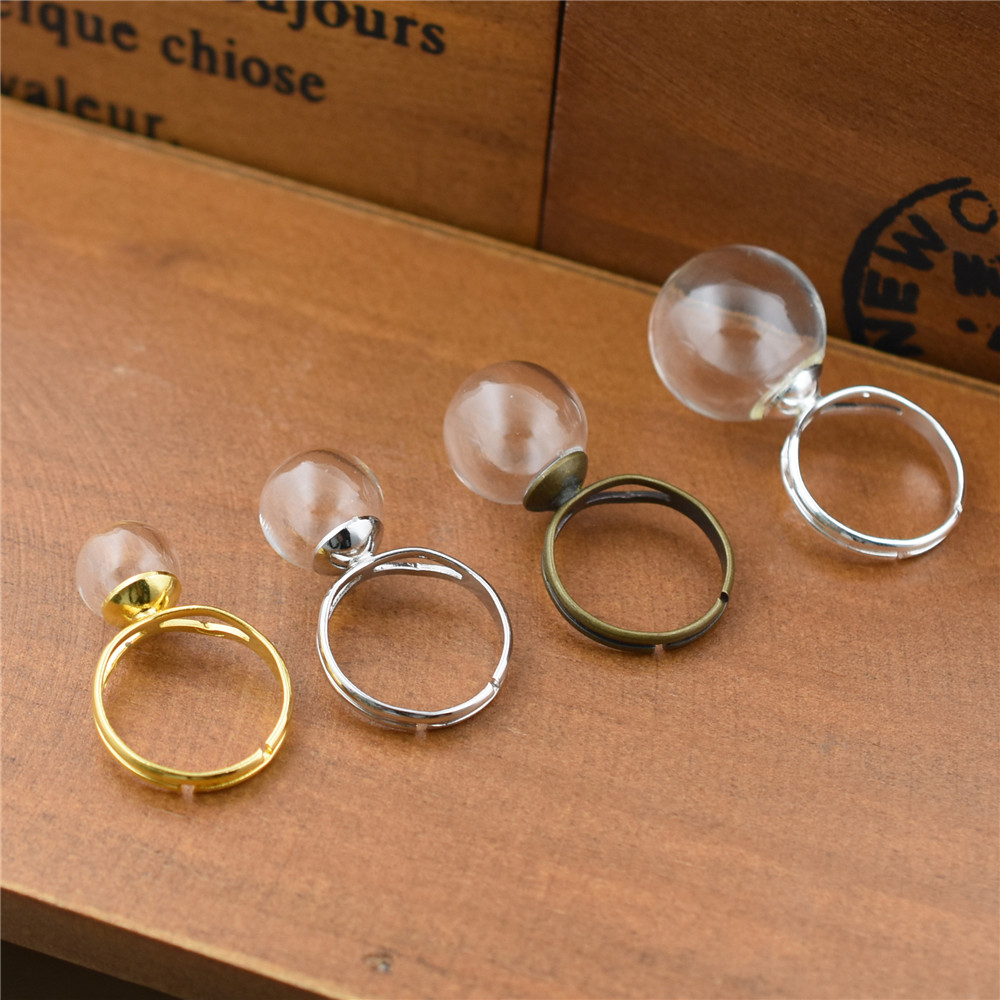 Size: Ring: about 17mm in inner diameter NBEADS 100 Pcs Adjustable Gold Plated Brass Finger Ring Bases Components Findings with Flat Blank Pad Lead Free and Cadmium Free Tray: about 6mm in diameter