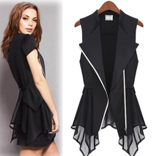 Free Shipping 2017 New Fashion Women Chiffon Vest Plus Size 4XL Casual All-match Sleeveless Summer Style Thin Vest Waistcoat 3XL