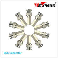 CCTV Accesory 10pcs/Lot BNC Connector Adaptor for HD Surveillance Camera Coaxial Cable BNC Male Twist On