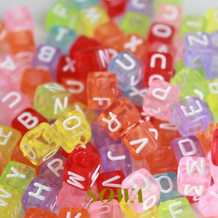 Acrylique Plain Tube Beads 6 x 8 mm mixte en vrac 4 Packs x 100 pcs Art Hobby Artisanat
