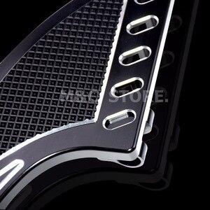 Image 5 - שחור CNC טומהוק קדמי נהג Stretche רצפה רגל נשענת להארלי סיור Softail FL Dyna FLD 1986 2015 מודלים