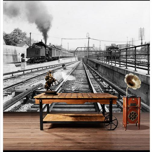Us 1565 49 Off3d Wallpaper Custom Mural Non Woven 3d Room Wallpaper Large Old Steam Train Industrial Revolution Photo Wallpaper For Walls 3d In