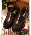 Mujeres Unisex Japón/Japonés Uniforme de Estudiante de La Escuela Zapatos Uwabaki JK Oxforda Cosplay Zapatos Planos de Punta Redonda Negro/Marrón