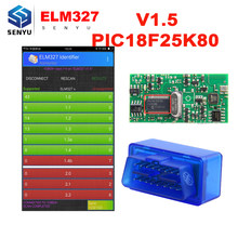 (10 Pcs)ELM327 V1.5 Bluetooth With PIC18F25K80 Chip OBD2 OBD II Diagnostic Scanner Tool elm 327 v1.5 For Android/PC OBD2 Scanner(China)