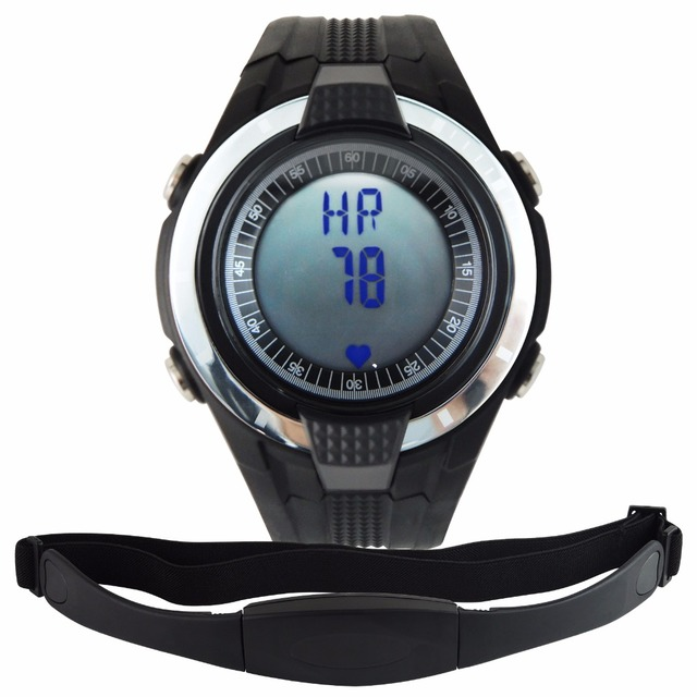 heart rate monitor pedometer step counter fat calories count